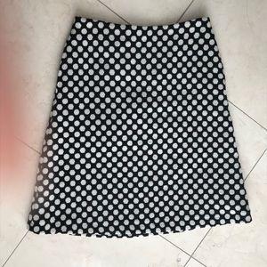 Boden A Line Polka Dot Skirt